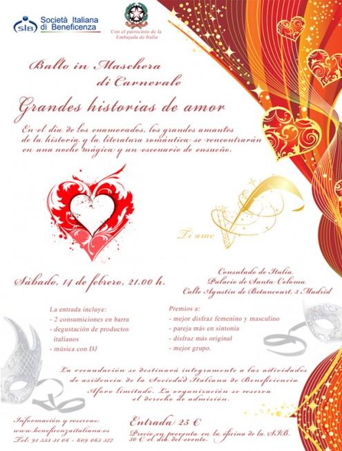 "Festa di Carnevale 14 febbraio 2015: ""Grandi storie d'amore"""